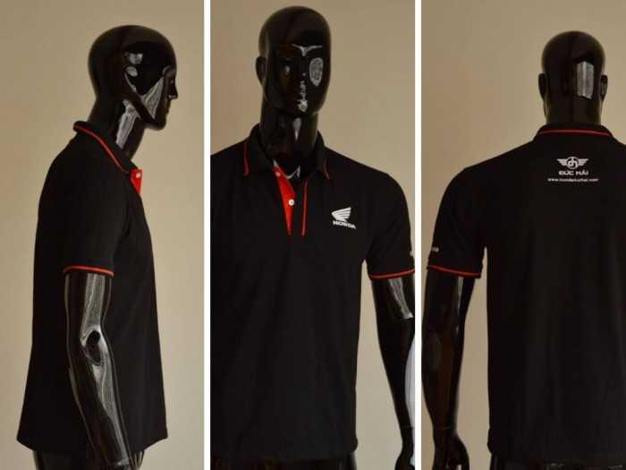 Mẫu áo thun cá sấu màu đen - Nhận may áo thun đen làm áo thun đồng phục nhân viên