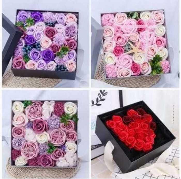 Quà tặng 20/10 ý nghĩa: Hộp hoa hồng sáp thơm kiểu Pháp