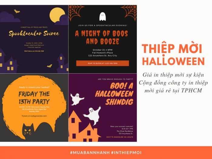 Giá in thiệp mời Halloween - Cộng đồng công ty in thiệp mời giá rẻ tại TPHCM