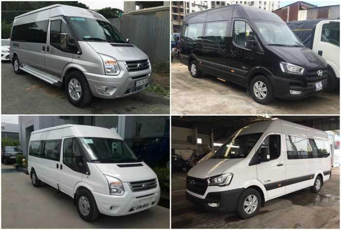 So sánh xe 16 chỗ Hyundai Solati và Ford Transit