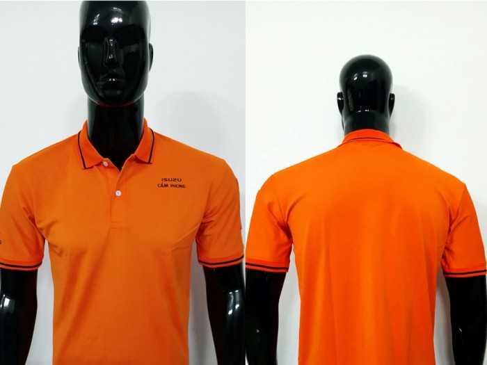Áo thun đồng phục cổ trụ màu cam
