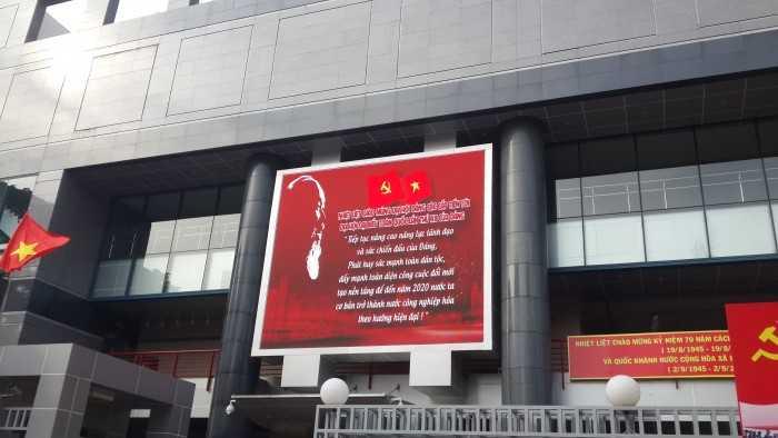 Lắp đặt màn hình led - Dự án lắp đặt màn hình Led Outdoor P10 cho đài truyền hình HTV
