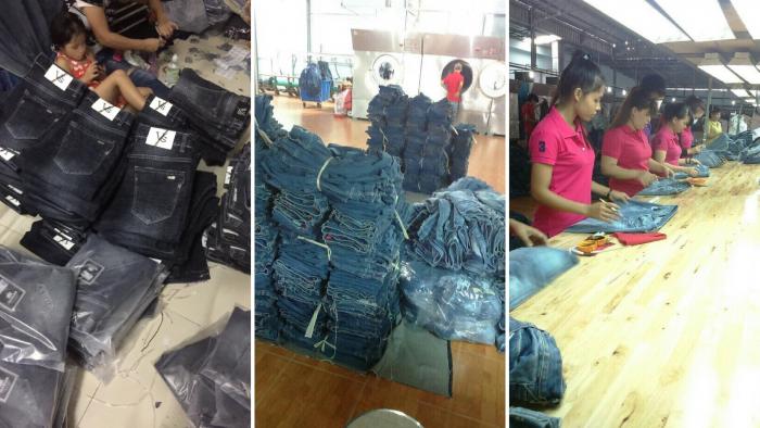 Các xưởng Jean cung cấp ra thị trường số lượng lớn quần Jean nam nữ trẻ em các loại