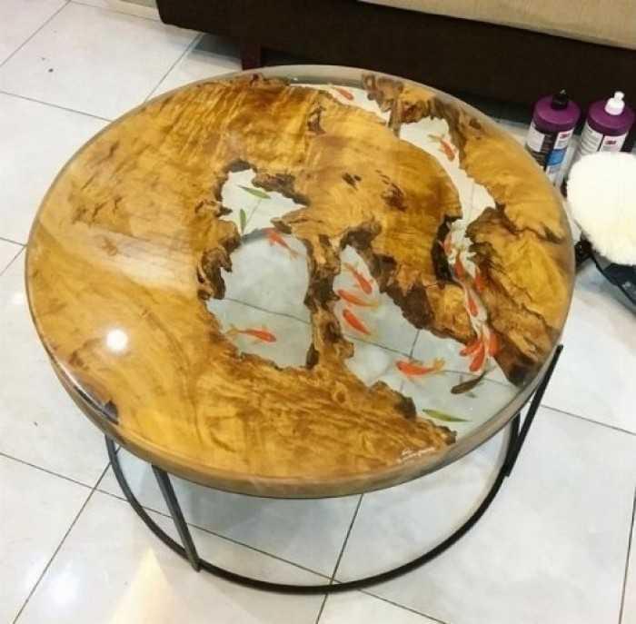 Cách đổ keo epoxy - cách làm bàn bằng keo epoxy