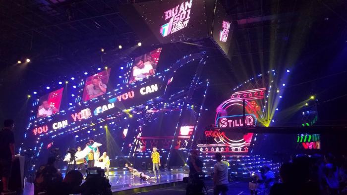 Lắp đặt màn hình Led sân khấu Dự án số 1 - The Debut 2018