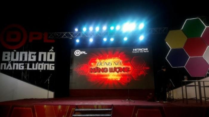 Lắp đặt màn hình Led sân khấu sự kiện Hitachi tại Nha Trang