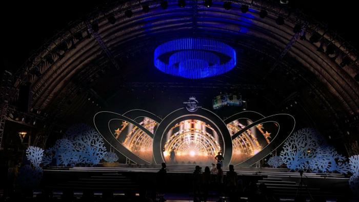 Lắp đặt màn hình Led sân khấu Chung kết Hoa hậu Biển Việt Nam Toàn cầu 2018 - Novotel Phu Quoc Resort