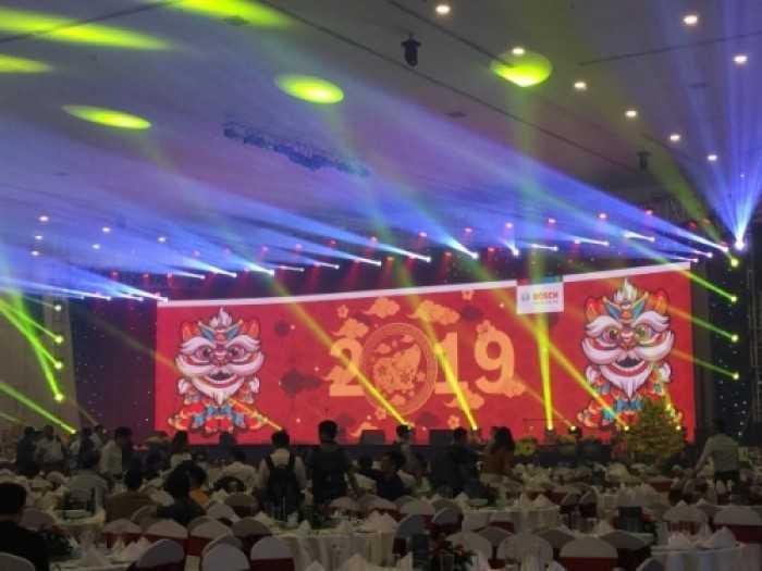 Cho thuê màn hình Led P3 tiệc tân niên của Bosch - địa điểm Adora Hoàng Văn Thụ, Phú Nhuận, TPHCM