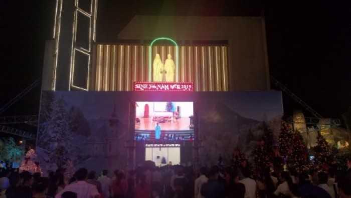 Cho thuê màn hình Led P4 sự kiện Mừng Chúa Giáng Sinh tại nhà thờ Tân Đức, Quận 9, TPHCM