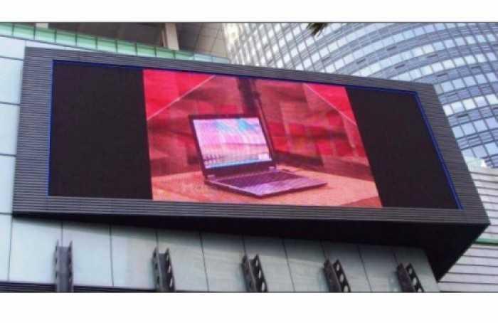 Lắp đặt màn hình Led P22 ngoài trời bên ngoài tòa nhà