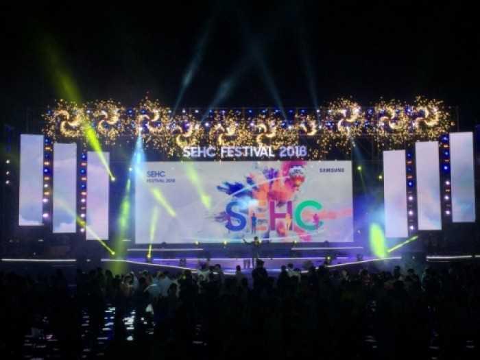 Cho thuê màn hình Led ngoài trời sự kiện SEHC Festival 2018 - màn hình Led P3, P4 outdoor