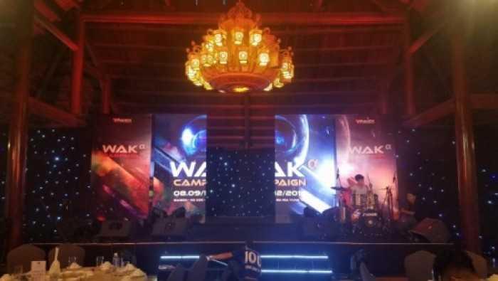 Cho thuê màn hình Led Gala Dinner công ty Waknet tại Resort Sài Gòn - Hồ Cốc