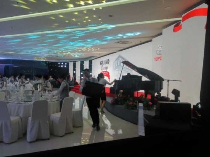 Cho thuê màn hình Led khai trương showroom Toyota Tiền Giang - màn hình Led P3