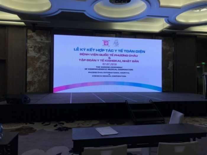 Cho thuê màn hình Led Cần Thơ - lễ ký kết hợp tác toàn diện tại Vinpearl Cần Thơ Hotel