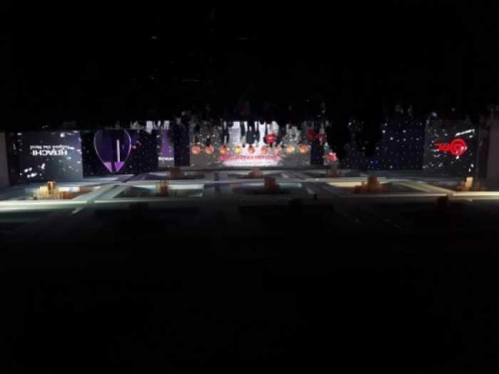 Cho thuê màn hình Led tại Nha Trang - Màn hình Led P4 ngoài trời sự kiện Hitachi tại Nha Trang
