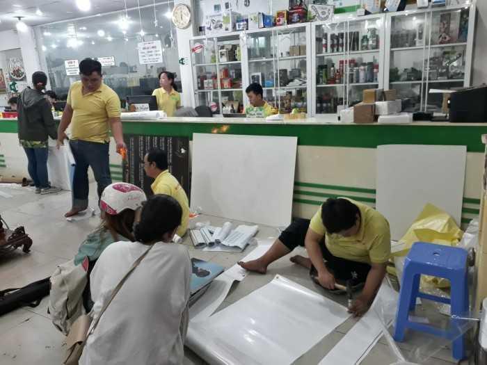 Bộ phận gia công hỗ trợ khách hàng các công tác hoàn thiện sản phẩm sau cùng