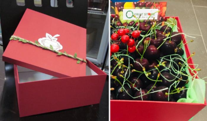 Hộp giấy hình vuông - mẫu hộp đựng trái cây tại MKnow