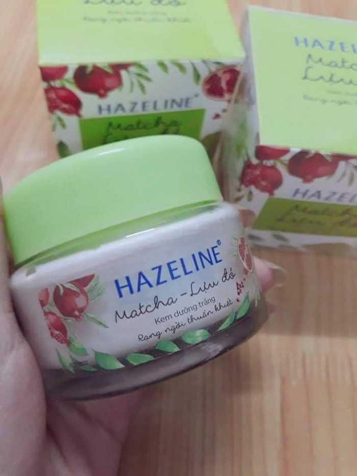 Kem Hazeline dưỡng trắng da mặt Matcha Lựu đỏ 8g