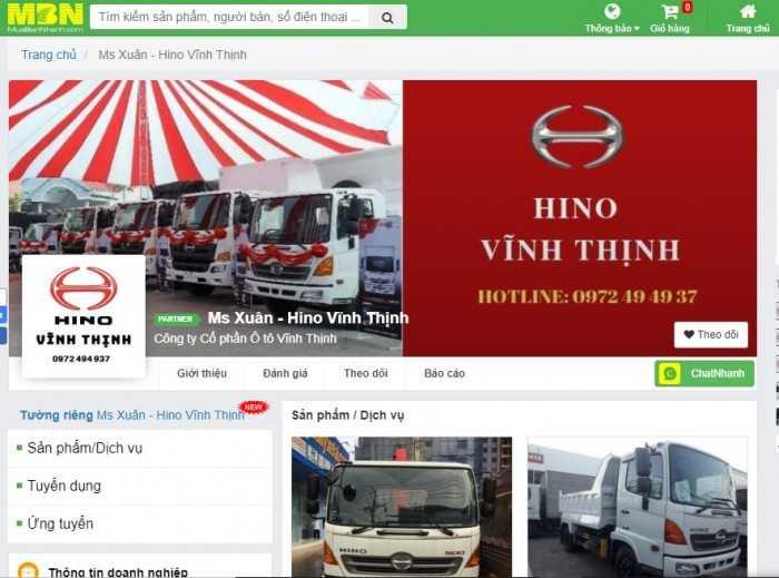 Đại lý Hino chính hãng 3S  Đối tác VIP mua bán xe tải uy tín lâu dài tại Xe MuaBanNhanh Showroom Hino Vĩnh Thịnh(1)
