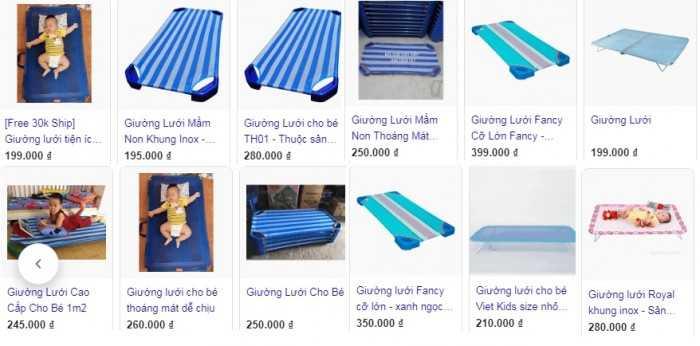 Các thương hiệu giường lưới cho bé tuổi mầm non phổ biến trên thị trường