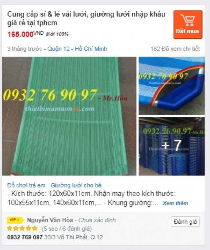 Lí do Bán hàng Online Giường lưới cho bé trên MuaBanNhanh