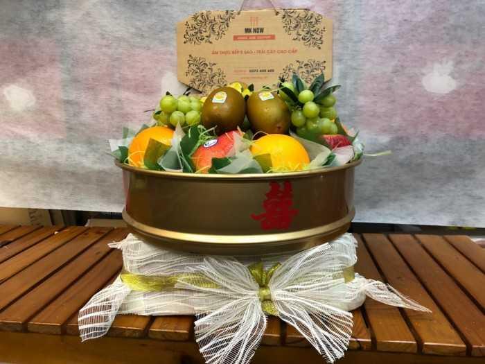 Quả trái cây ăn hỏi - trang trí mâm quả cưới hỏi, tráp hoa quả ăn hỏi cùng đối tác MuaBanNhanh