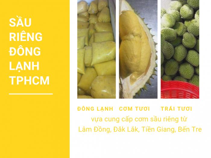 Giá cơm sầu riêng đông lạnh TPHCM - vựa cung cấp cơm sầu riêng từ Lâm Đồng, Đăk Lắk, Tiền Giang, Bến Tre