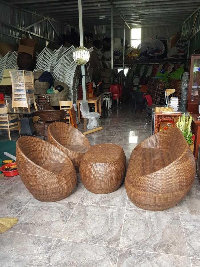 Ghế trứng ghế giả mây Tấn Hoàng
