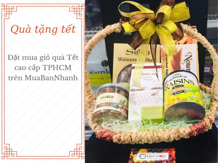 Đặt mua giỏ quà Tết cao cấp TPHCM trên MuaBanNhanh