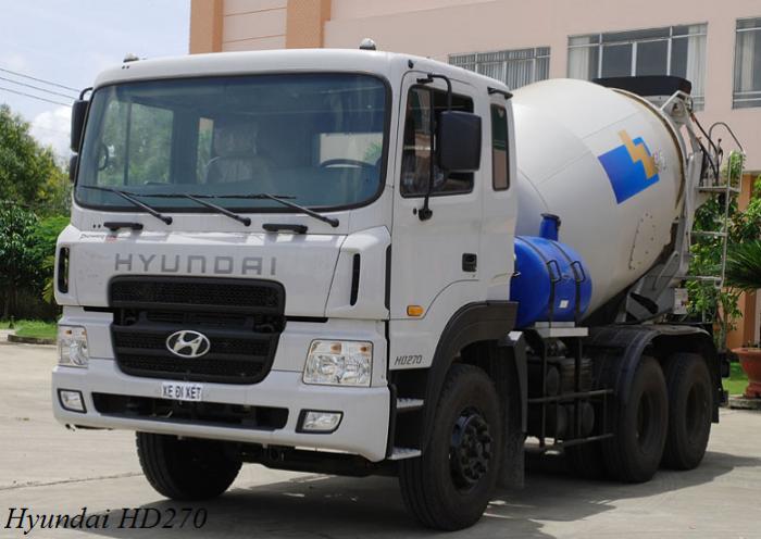 Xe bồn trộn bê tông Hyundai 15 tấn HD270
