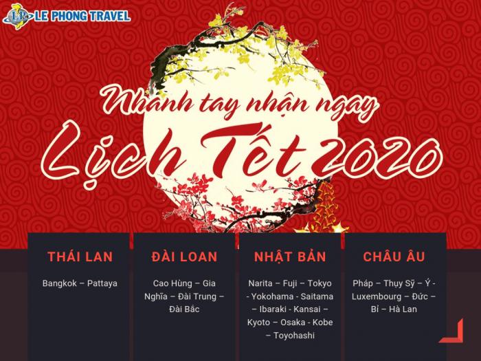 Đặt tour Tết 2020 cùng Lê Phong Travel