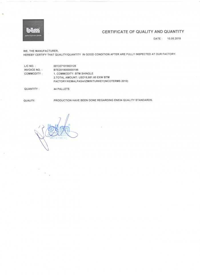 Chứng nhận ngói bitum phủ đá(3)