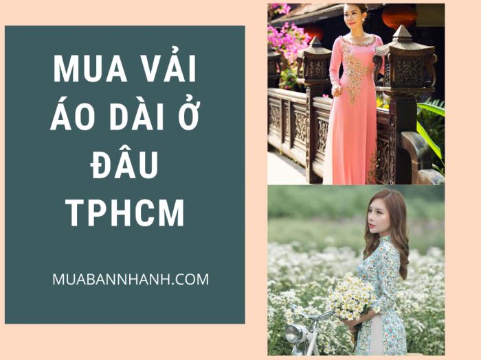 Mua vải may áo dài ở đâu TPHCM? Vải lụa Hàn Quốc, voan hoa nhí, voan lưới, vải xốp, kim sa, nhung, 3D