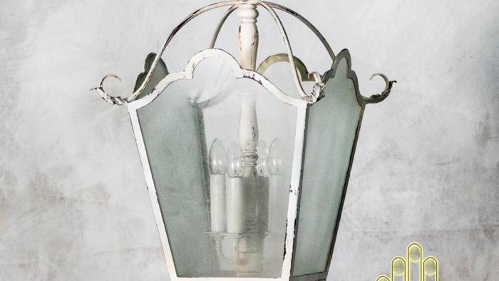 Đèn chùm thả tứ giác Pháp cổ điển