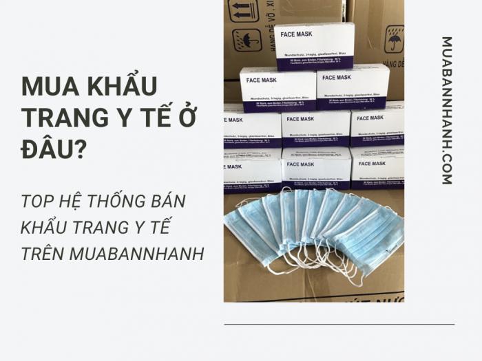 Khẩu trang y tế giá rẻ - MuaBanNhanh