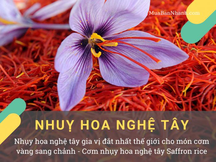 Nhụy hoa nghệ tây gia vị đắt nhất thế giới cho món cơm vàng sang chảnh - Cơm nhụy hoa nghệ tây Saffron rice