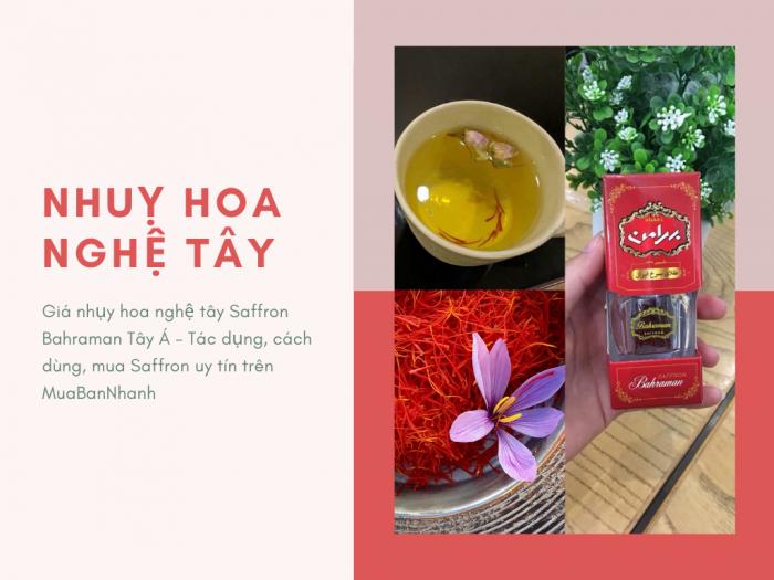 Giá nhụy hoa nghệ tây Saffron Bahraman Tây Á - Tác dụng, cách dùng, mua Saffron uy tín trên MuaBanNhanh
