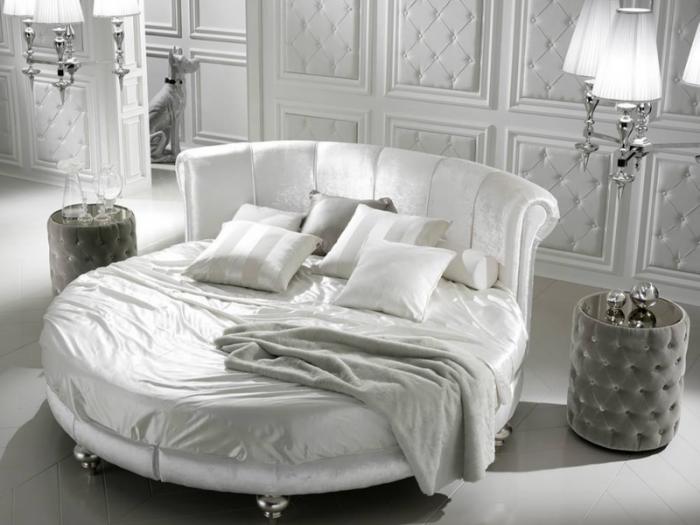 Giường tròn bọc da