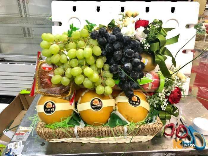 giỏ trái cây ngày của mẹ