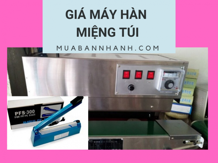 Giá máy hàn miệng túi Nhật Bản tại TPHCM - Địa chỉ bán máy hàn miệng túi cao cấp có hút chân không