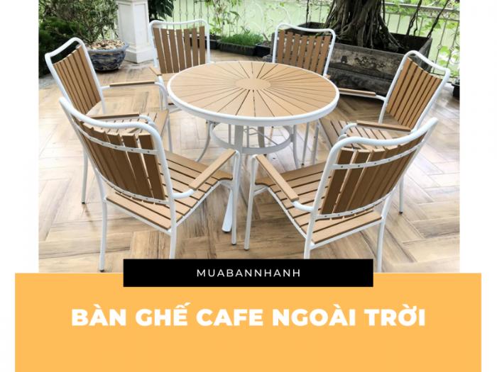 Mẫu bàn ghế cafe ngoài trời rẻ đẹp có độ bền cao