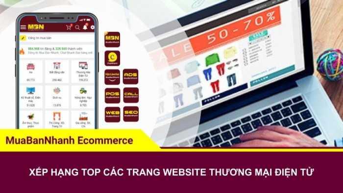 Xếp hạng TOP các trang website nền tảng thương mại điện tử