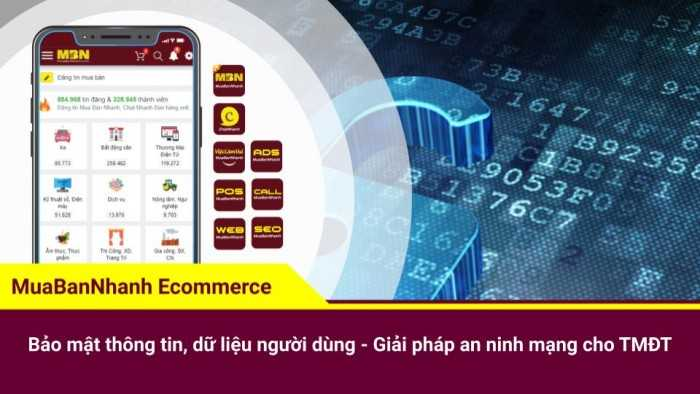 Bảo mật thông tin, dữ liệu người dùng - Giải pháp an ninh mạng cho thương mại điện tử