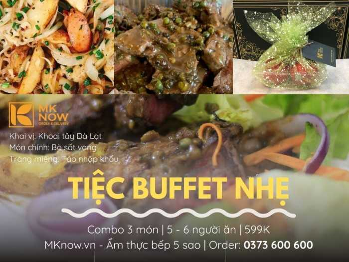 Combo Bò sốt vang - Khoai tây - Táo đỏ | Ẩm thực MKnow - đối tác nhà hàng món ngon MuaBanNhanh