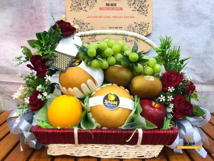 Giỏ trái cây tặng cán bộ - MuaBanNhanh