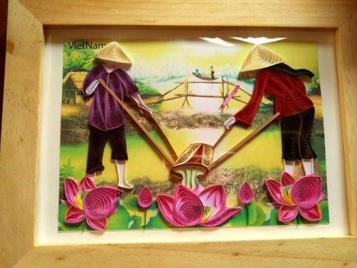 Quà tặng tranh xoắn nghệ thuật - MuaBanNhanh
