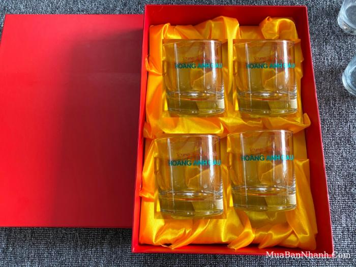 Quà tặng khách hàng công ty, đại lý phân bón - Bộ ly thủy tinh in logo hộp đựng cao cấp - Báo giá sỉ xưởng sản xuất từ 50 bộ