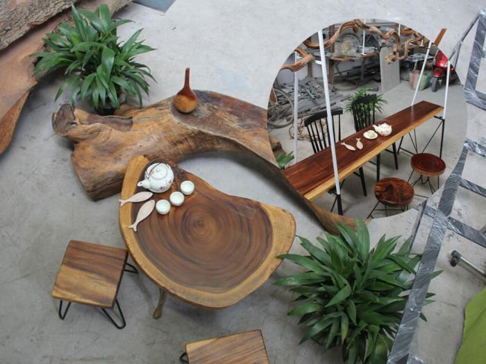 Bán mặt bàn gỗ me tây nguyên tấm tự nhiên đổ keo Epoxy tại TPHCM - Set up bàn gỗ chất lừ cho các quán cafe, nhà hàng, quán ăn, resort