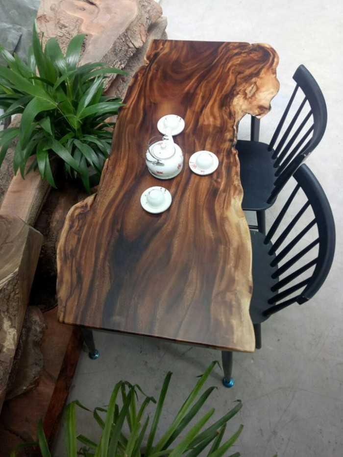 Top những mẫu mặt bàn gỗ tự nhiên tuyệt đẹp - MuaBanNhanh