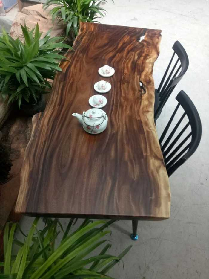 Mặt bàn ghế gỗ nguyên tấm nghệ thuật - MuaBanNhanh